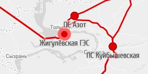 Схема ЛЭП и электроснабжения России